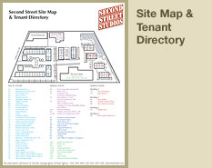 Site Map and Tenant Directory for Second Street Studios