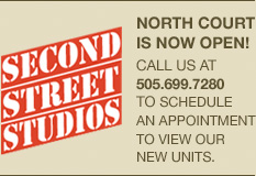 Second Street Studios - North Court now leasing!